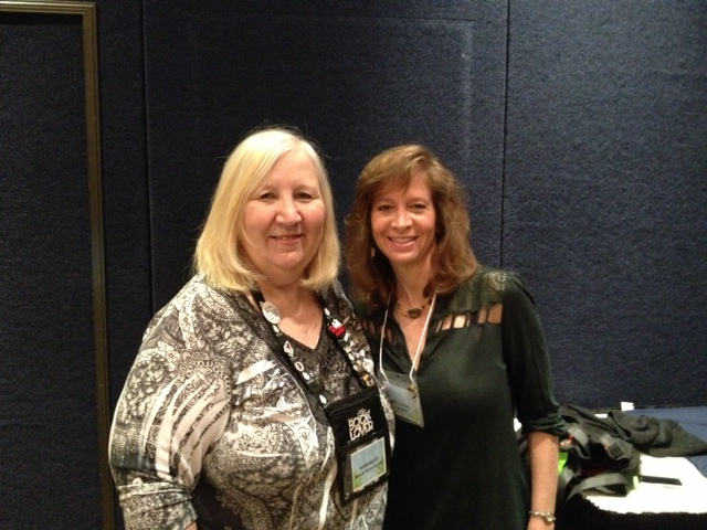 Here's a shot of Barbara and me after her workshop at SoCalRWA 2013.