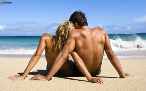 couple by the sea, love, summer 153488