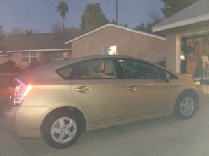 Here's the car she drove for her test. I call her Goldie. (I know...I have zero imagination.)